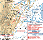 Map of the American Civil War: January-June 1862