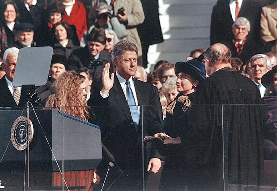 CHANGING OF THE GUARD - BILL CLINTON 1993