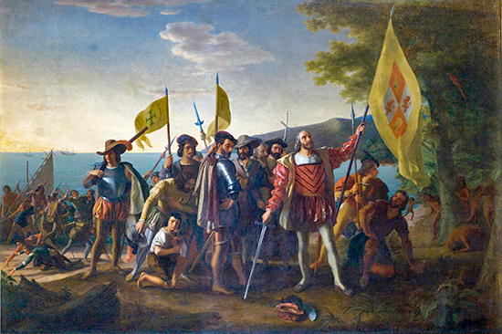 Landing of Columbus - October 12, 1492 - Oil on canvas by John Vanderlyn, Architect of the Capitol