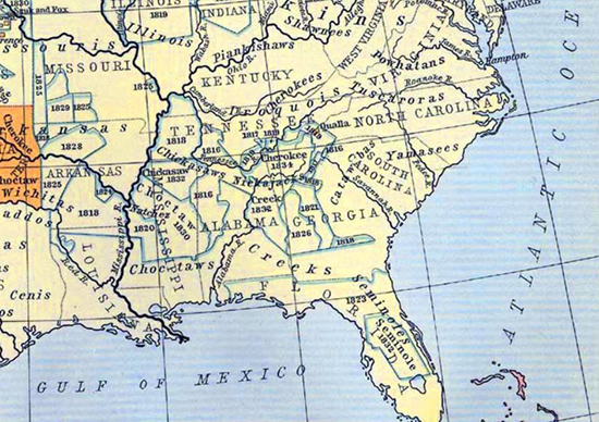 Territory of the Creek Indians - Map