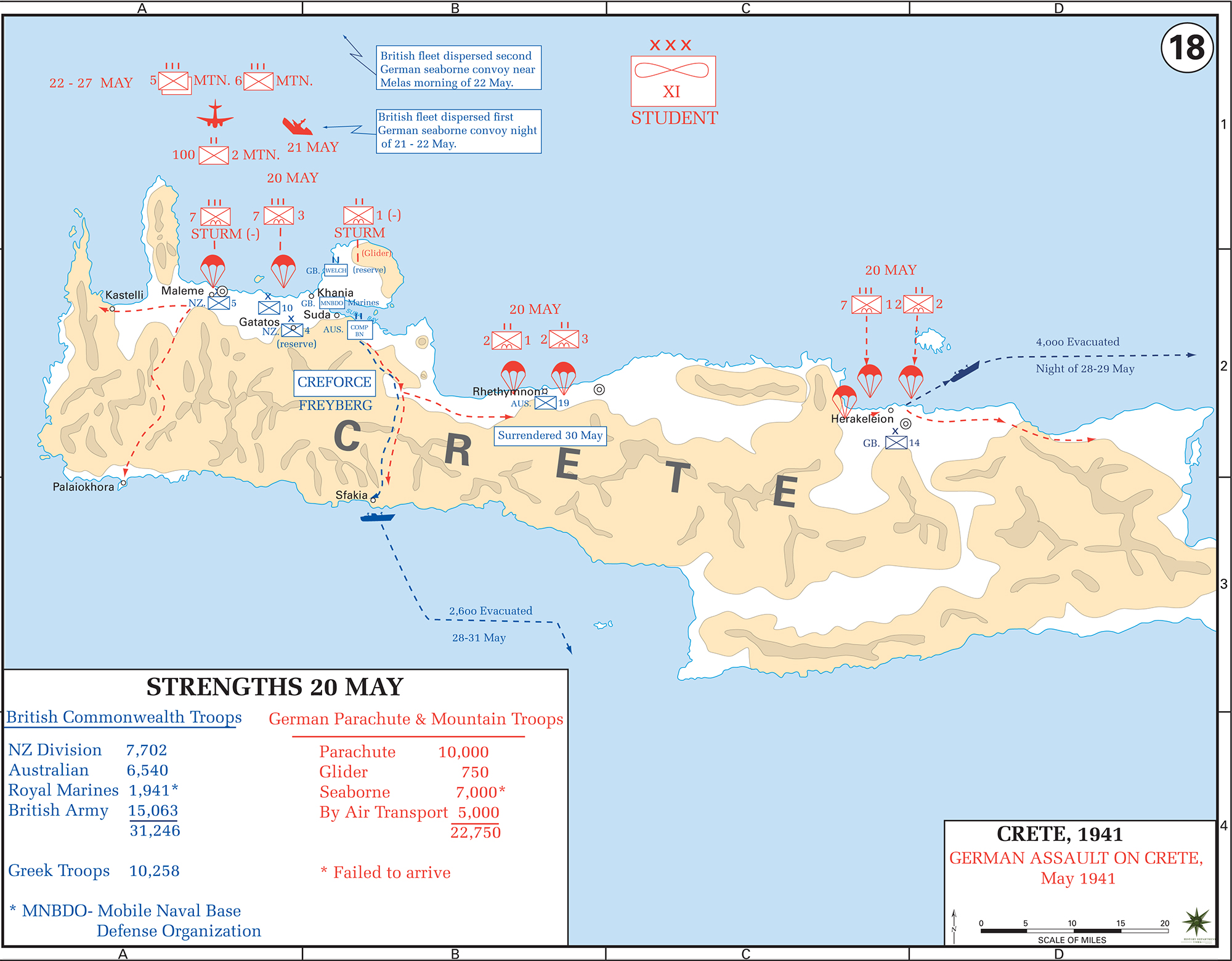 Map Of Wwii Crete 1941