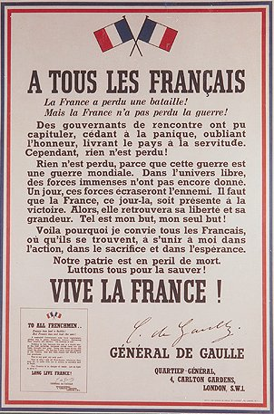 """FRANCE LOST A BATTLE BUT NOT THE WAR"""