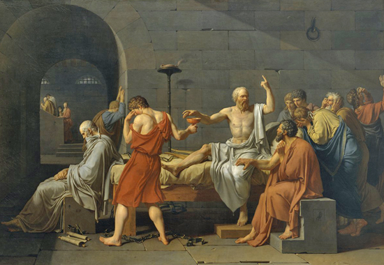 THE DEATH OF SOCRATES - BY JACQUES-LOUIS DAVID