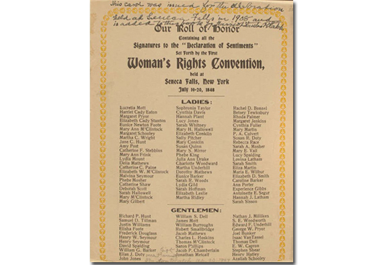 declaration of sentiments elizabeth cady stanton  entering upon the great work before us stanton 1848