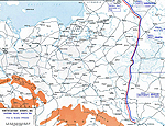 Map of WWI: Eastern Front - March 1916 - Prior to the Brusilov Breakthrough against Austria-Hungary June�August 1916