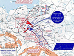 Map of WWI: Eastern Front - Sept 28-Nov 1, 1914: Campaign in Southwest Poland