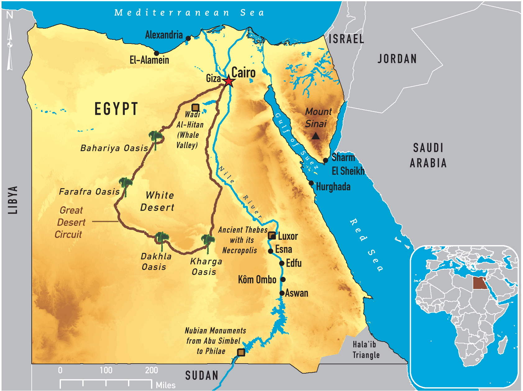 Of Egypt - Map of egypt picture