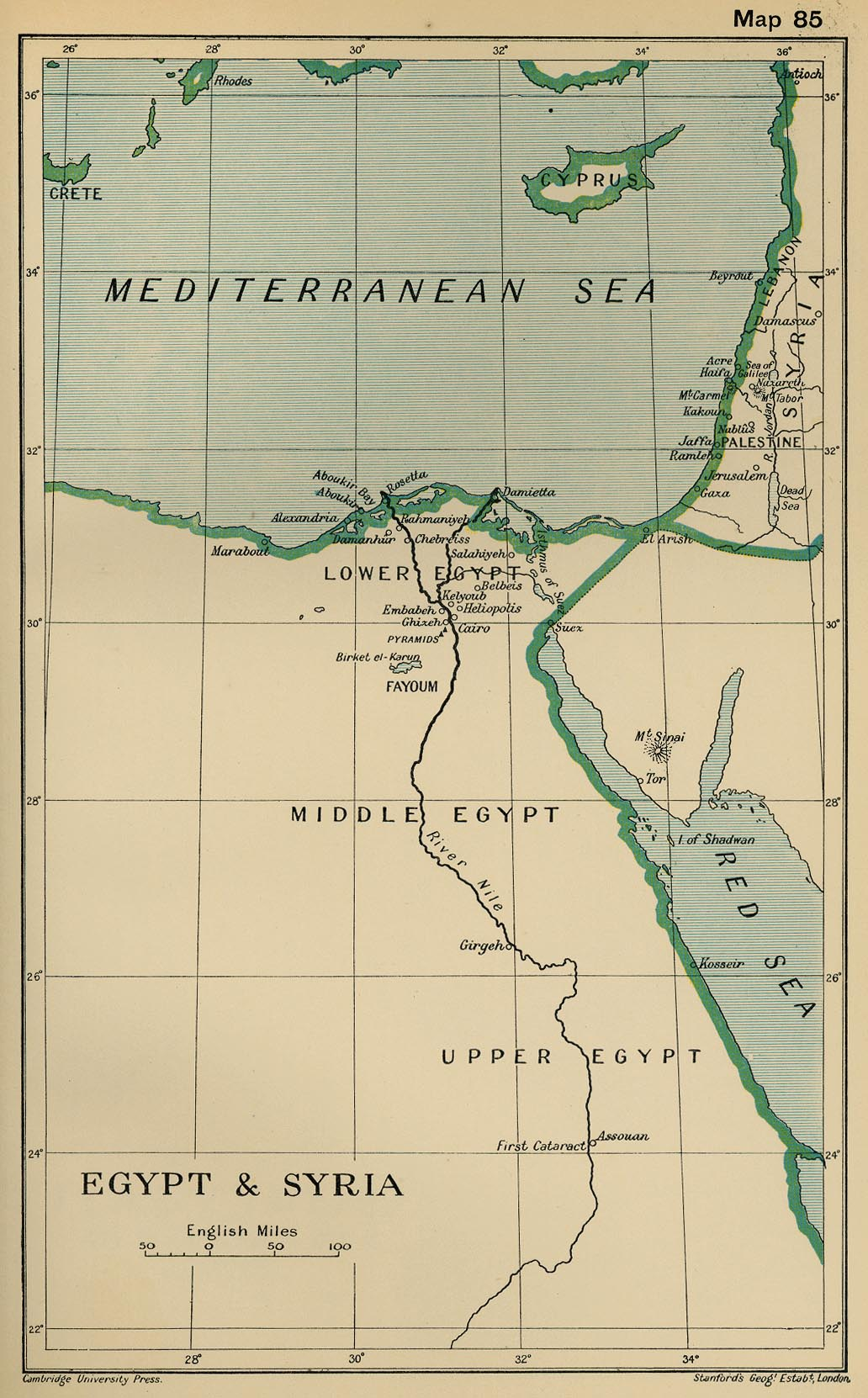 Map Of Egypt And Syria In - Map of egypt and syria