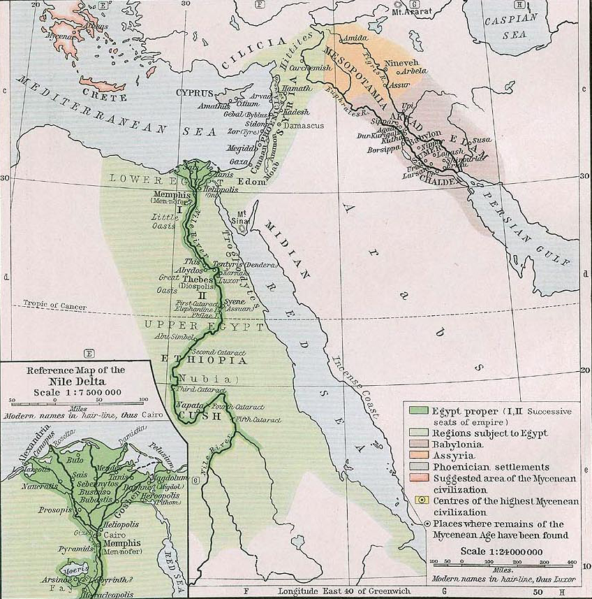 Map Of Egypt Syria And Mesopotamia BC - Map of egypt before christ