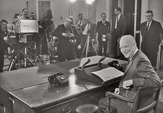 President Eisenhower Delivering his Farewell Address