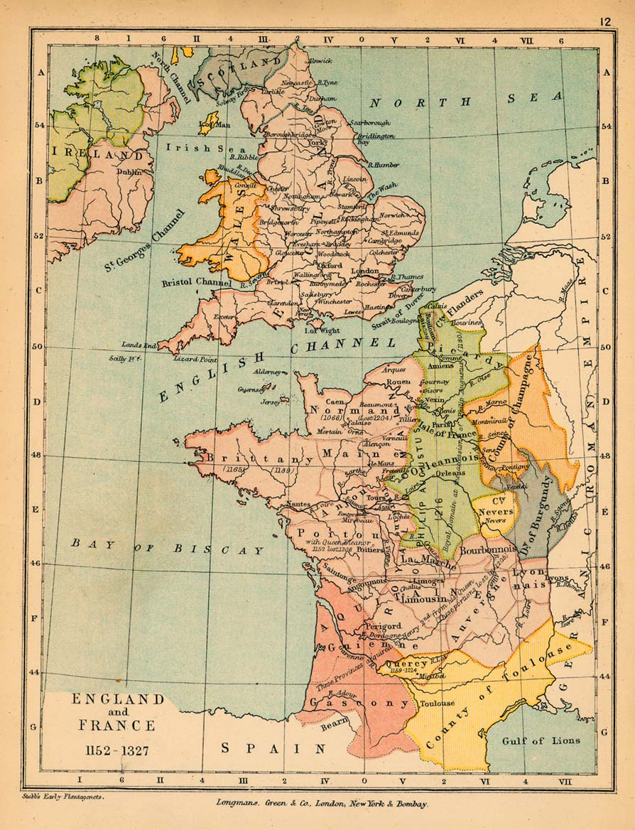 Map of england and france 1152 1327 england and france 1152 1327 gumiabroncs