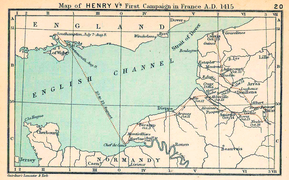 Map Of France 1600.Map Of The English Channel 1415