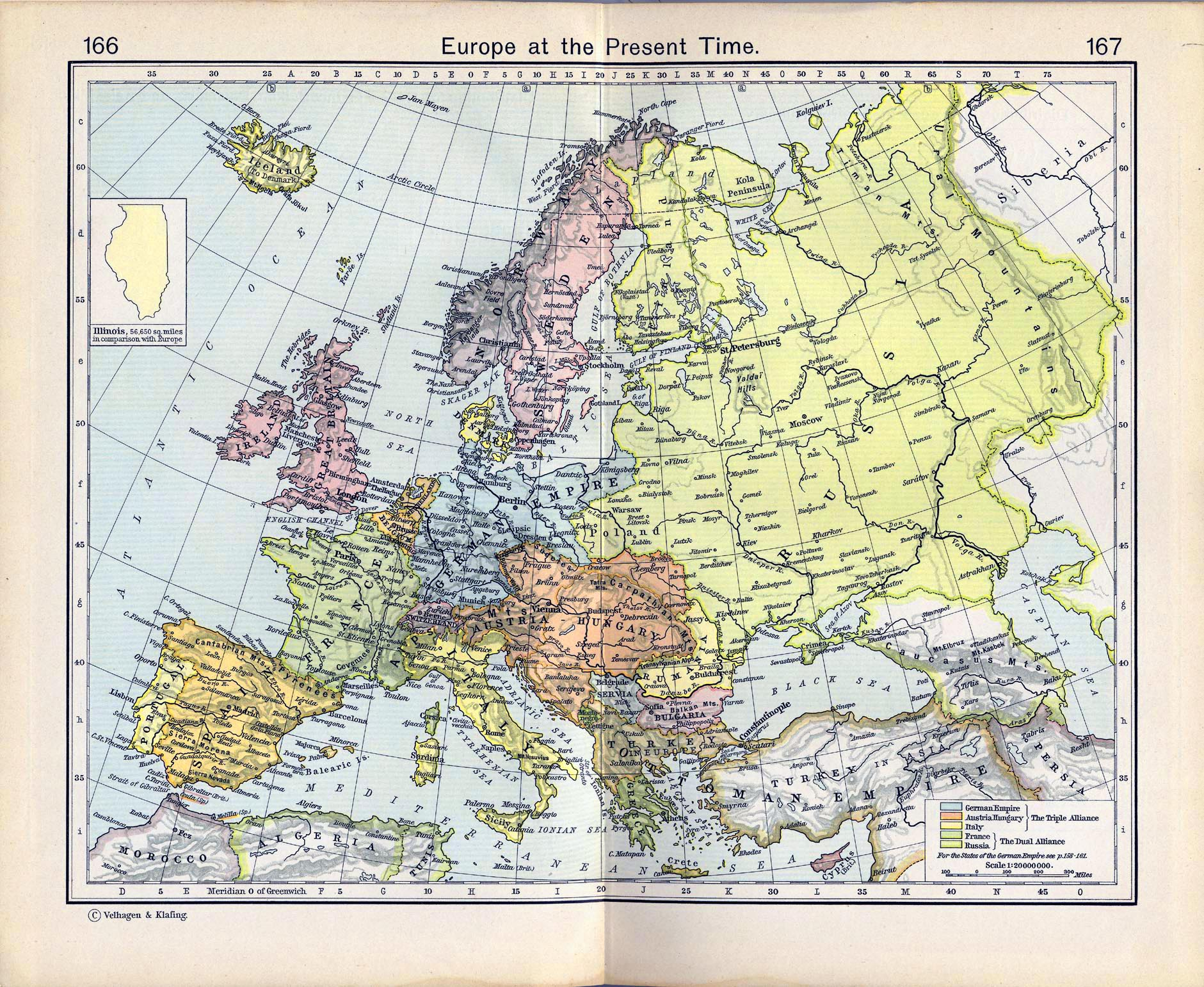 map of europe in 1911
