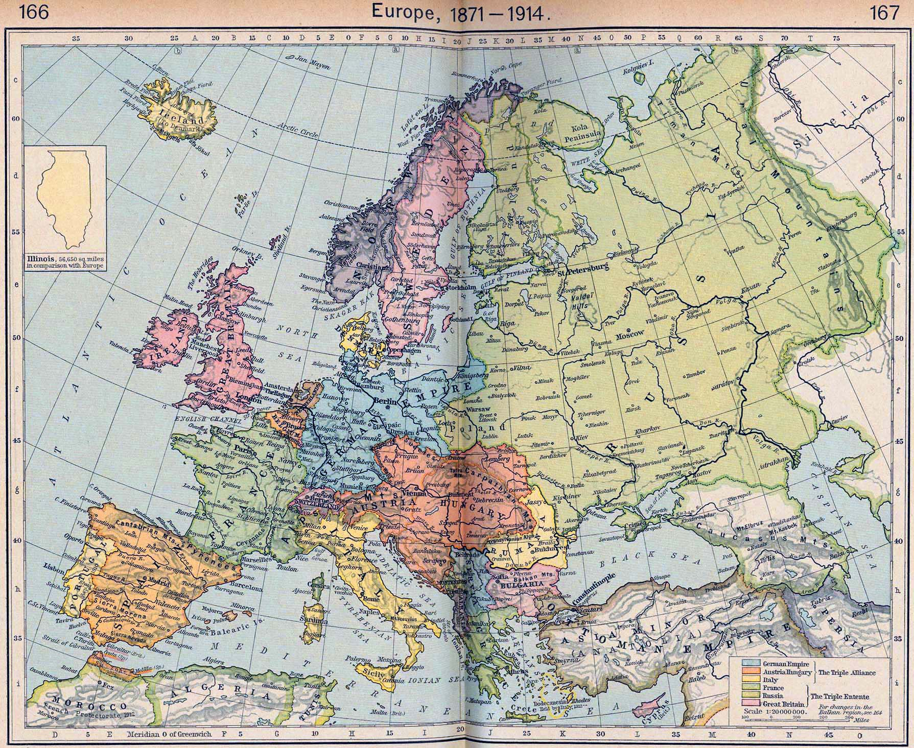 karta evrope 1914 Map of Europe 1871 1914 karta evrope 1914