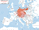 Map of Europe 1936-1939: German aggressions