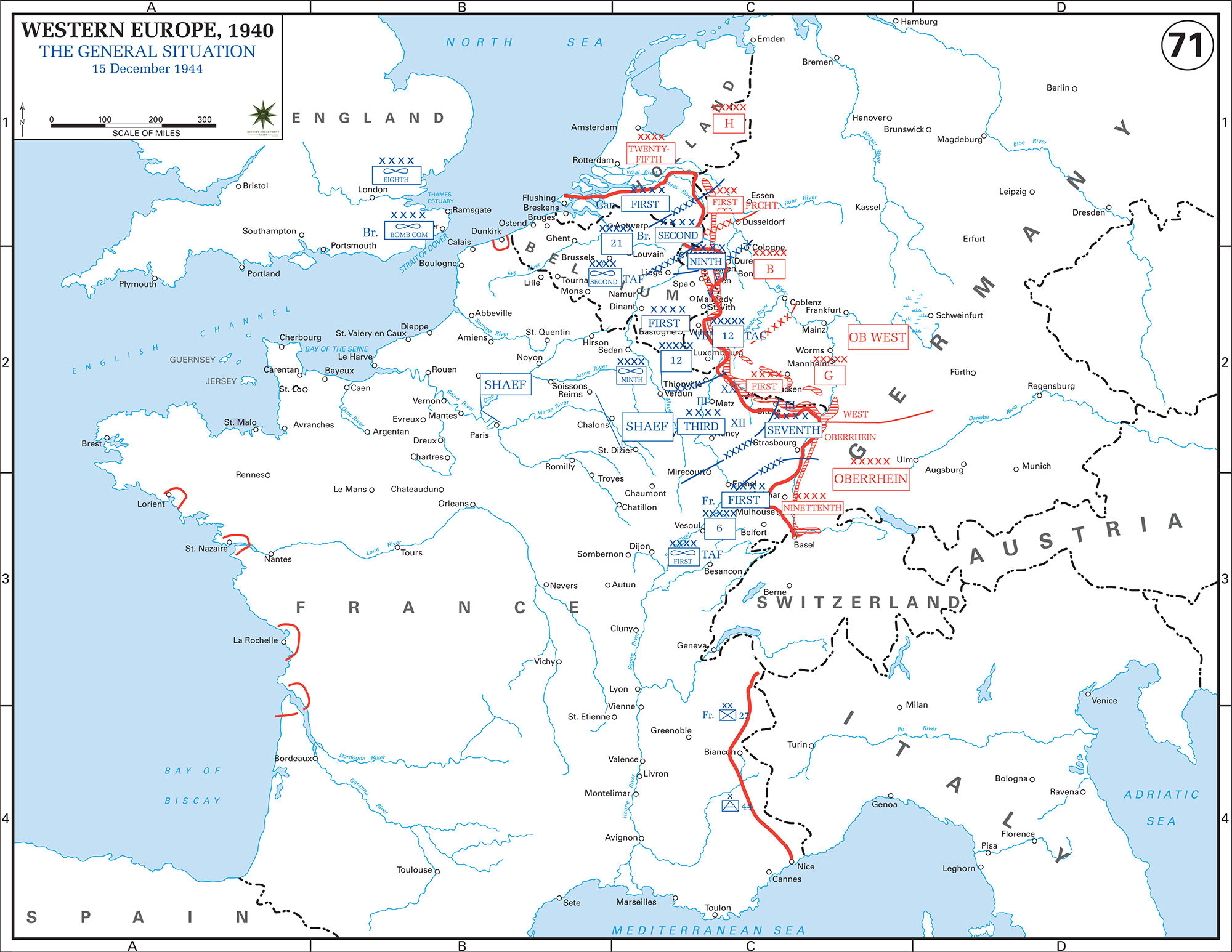 Map Of Wwii Western Europe On Dec 15 1944