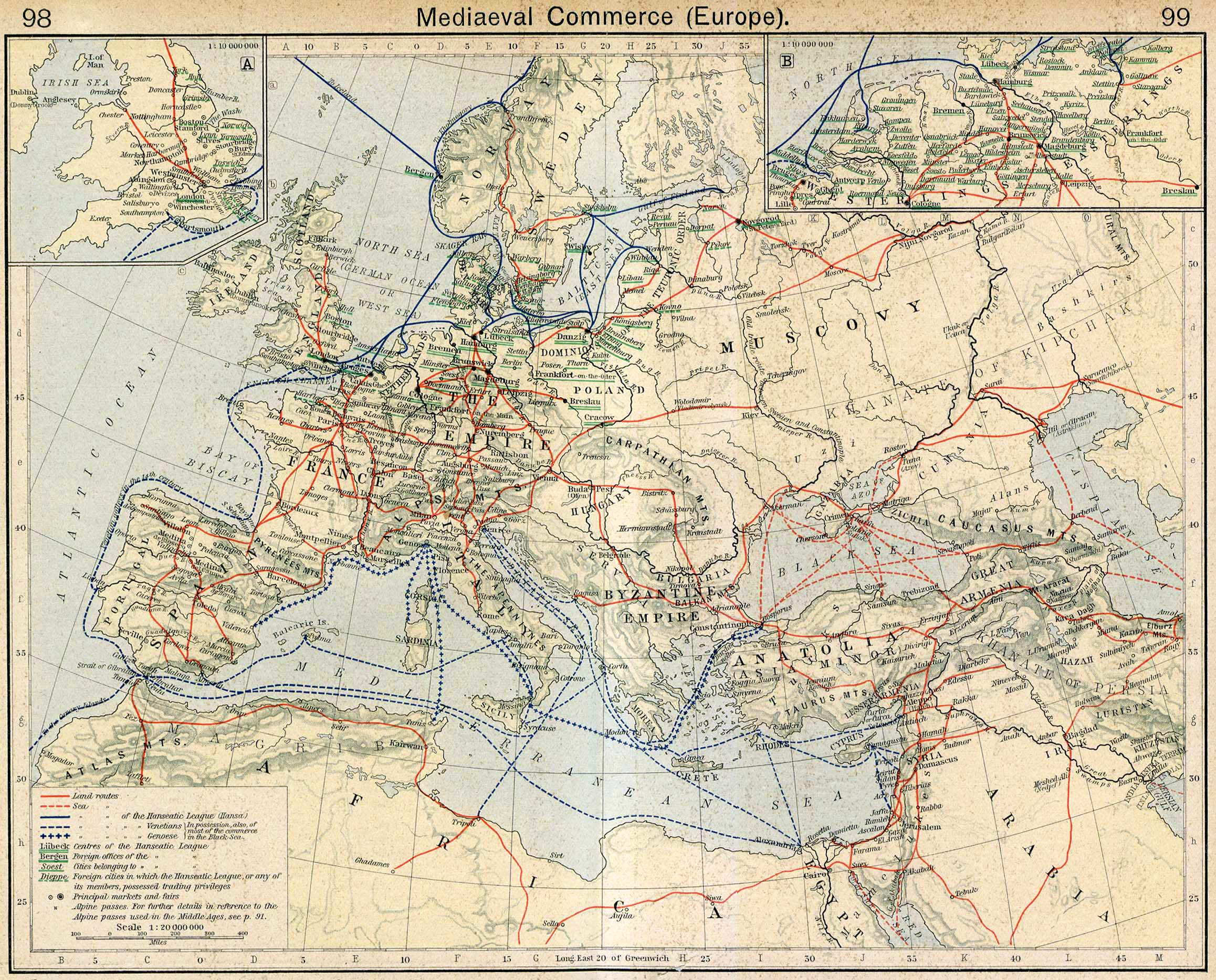Map of Commerce in Meval Europe Meval Map Of Europe on