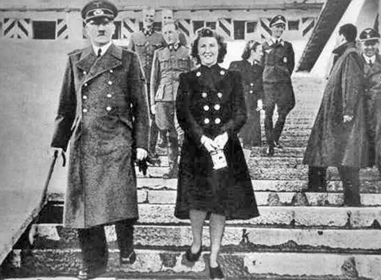 ADOLF HITLER AND EVA BRAUN AT BERGHOF - 1944/1945