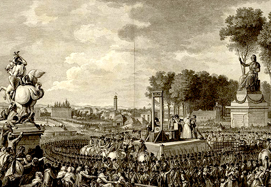 Execution of Queen Marie-Antoinette, Paris, 1793