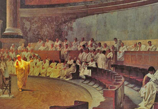 ciceros first oration against catiline essay What is your understanding of cicero's persuasive goals in his oration what problems stand in the way of achieving cicero's persuasive goals what is the format/ style of cicero's speech.
