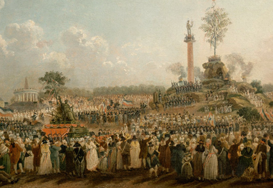 FESTIVAL OF THE SUPREME BEING - PARIS, JUNE 8, 1794 - Captured by Pierre-Antoine Demachy
