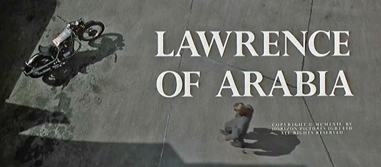 Lawrence of Arabia, The Movie, 1962