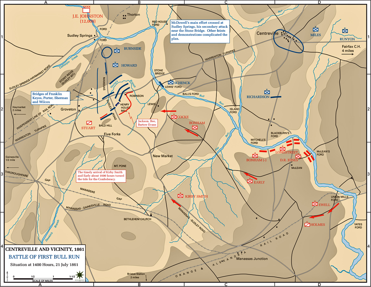 an analysis of the first bull run as the first major battle of the war Item description: entry, dated 26 july 1861, from the diary of margaret ann meta morris grimball discussing the first battle of bull run (first manassas) and the formation of confederate relief societies on the home front.