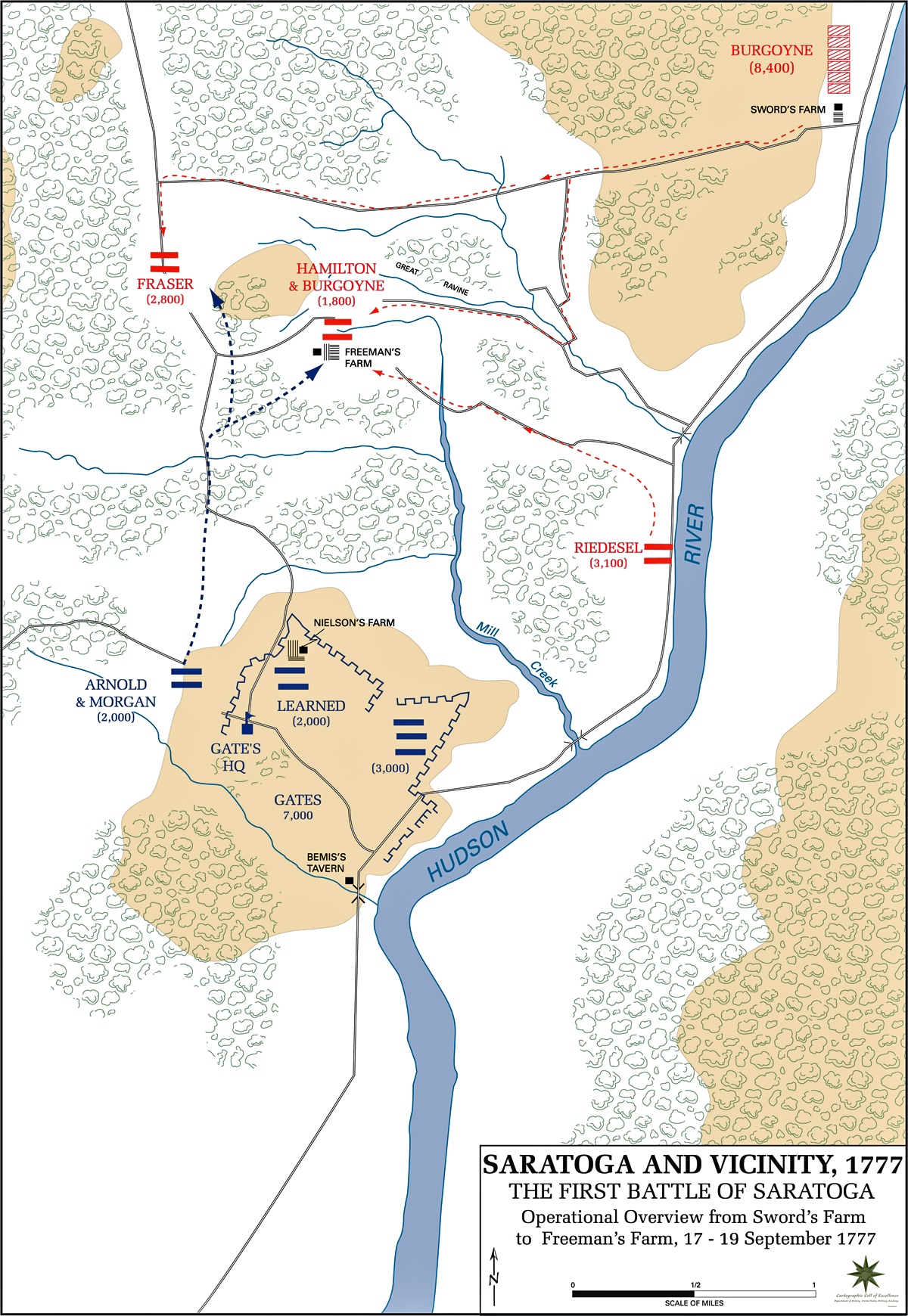 Of The First Battle Of Saratoga September - Battle of saratoga us maps