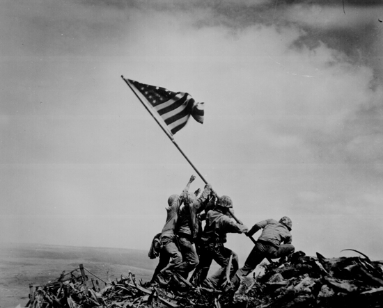 February 23, 1945 - Flag Raising on Iwo Jima