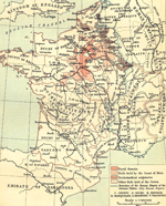 Map of France, 1035