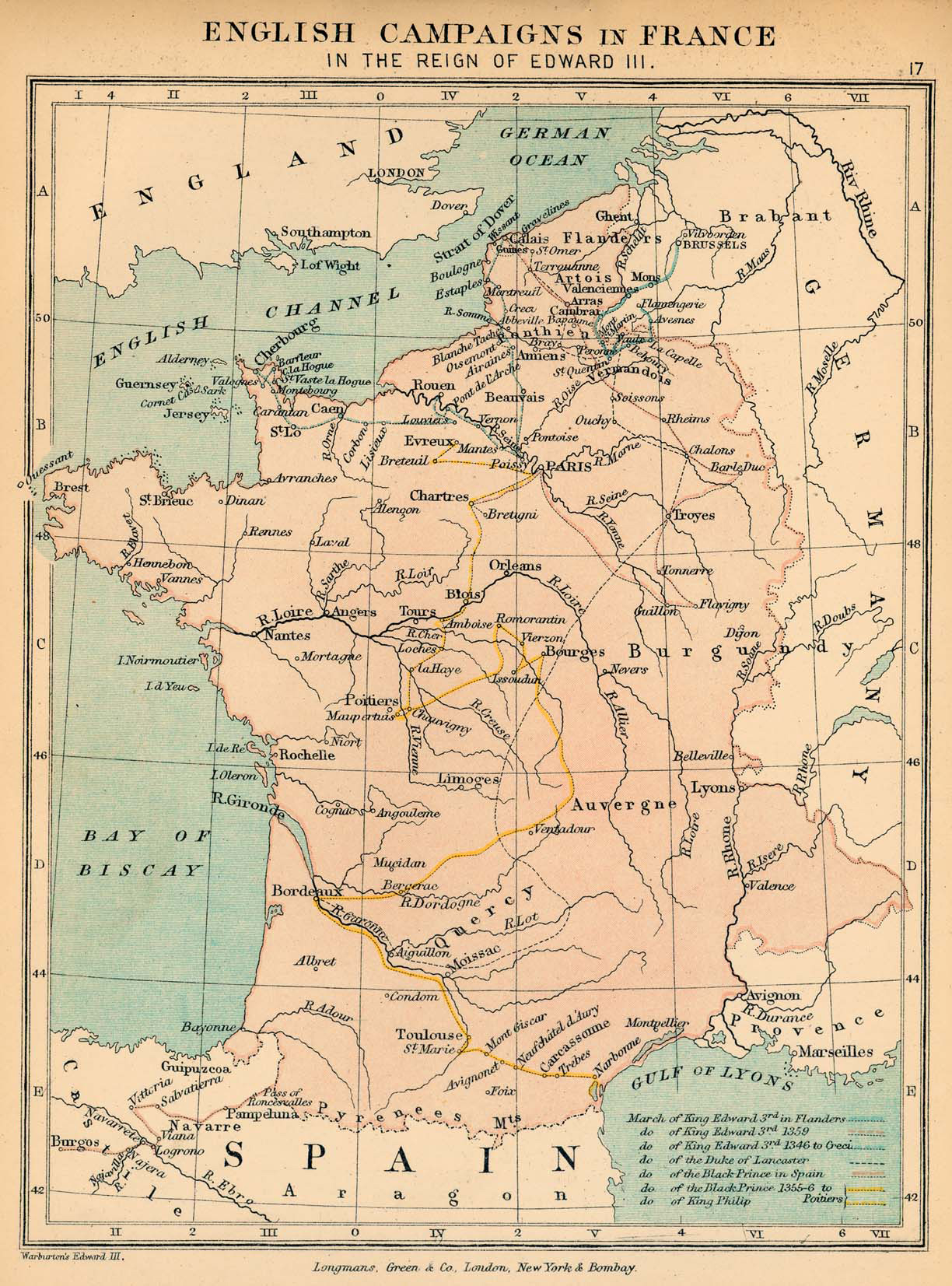 Map Of France In English.Map Of France 1327 1377