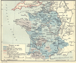 Map of France 1453