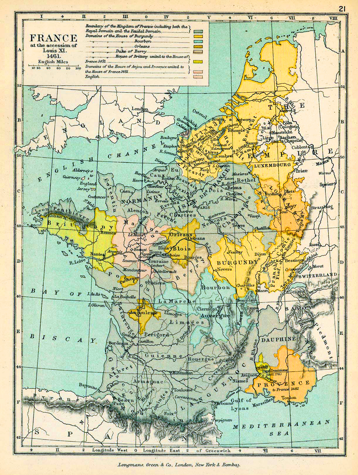 Map Of France 1500.Map Of France In 1461