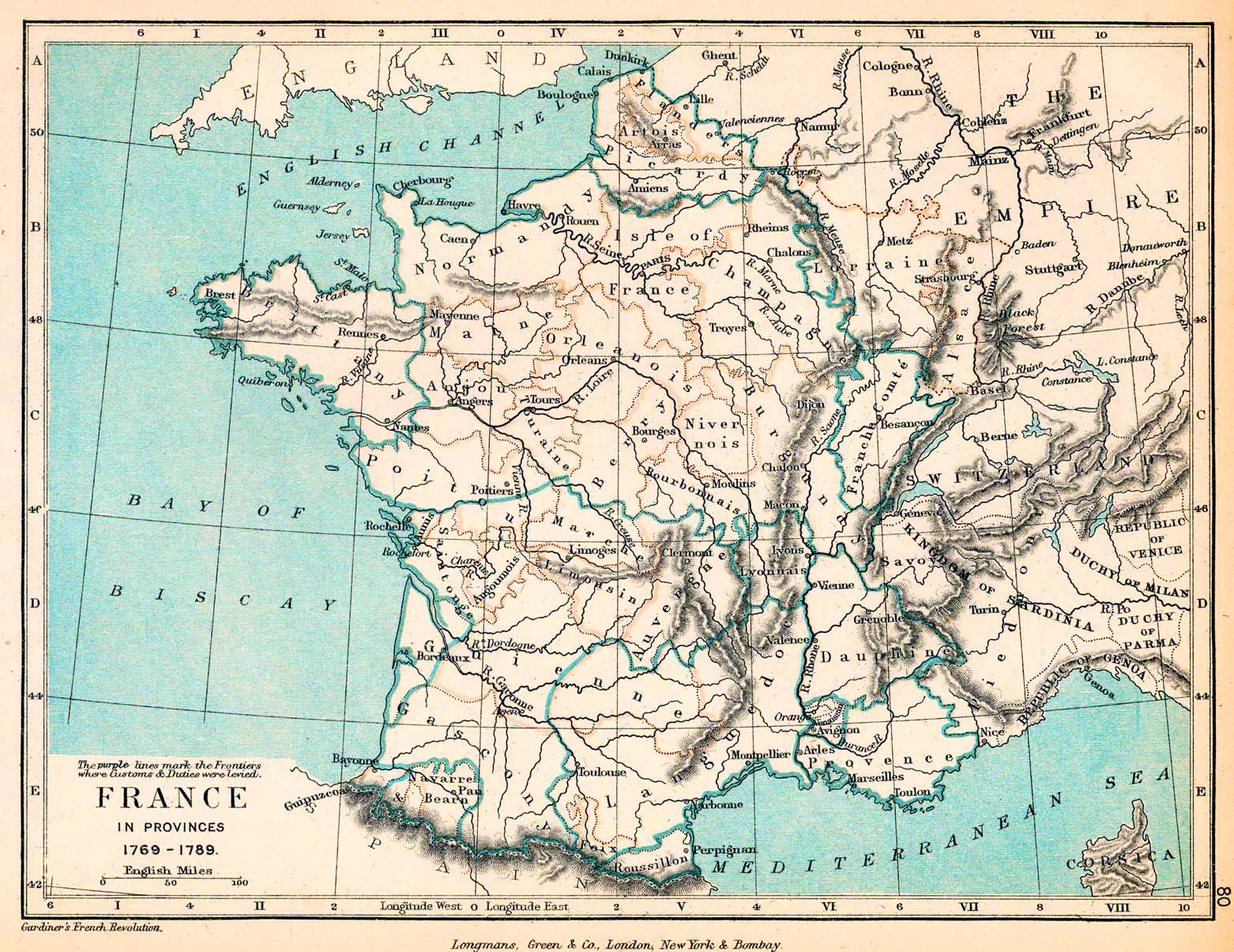 Map Of France - France provinces map