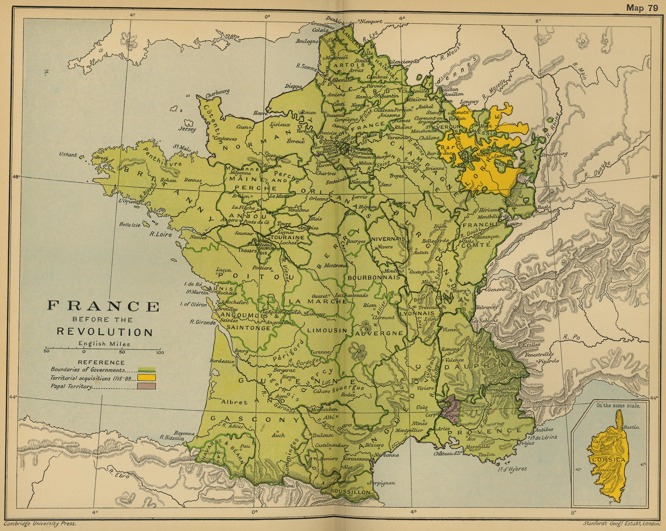 Map Of France In 1789.Map Of France Before 1789