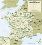 Map of France 1991