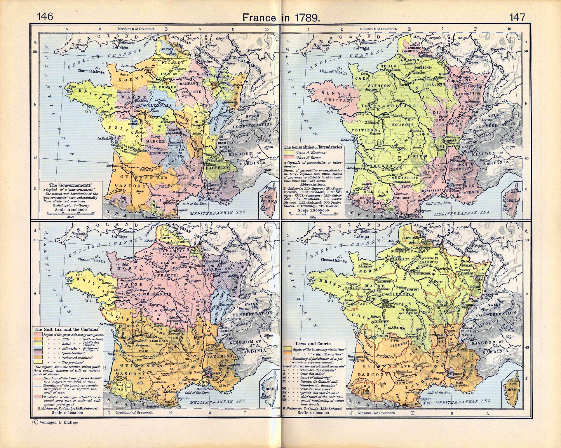 Map Of France In 1789.Map Of France In 1789