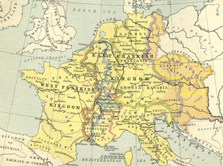 Frankish Power 843 - 888, Map