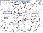 Map of the Seven Years War: Frederick's Strategy 1756-1763