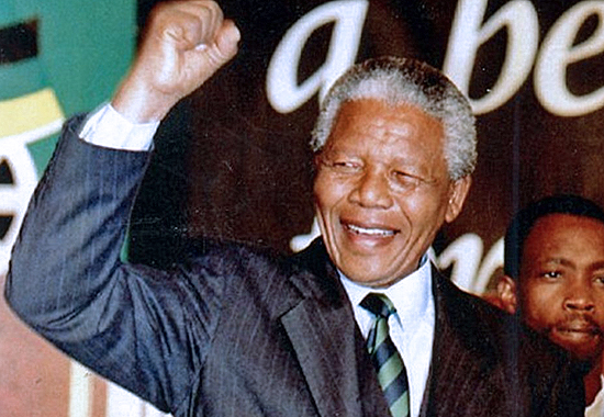 WINNING ELECTIONS WHILE IN HIS SEVENTIES - NELSON MANDELA 1994
