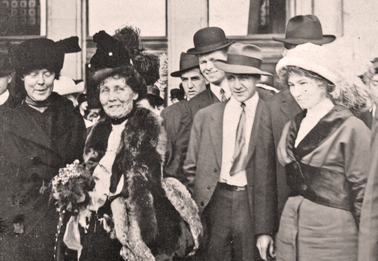 EMMELINE PANKHURST TOURING THE US BEFORE FUR BECAME AN ISSUE