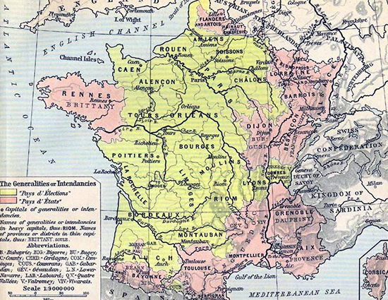 Map Of France In 1789.The French Revolution 1789 1799