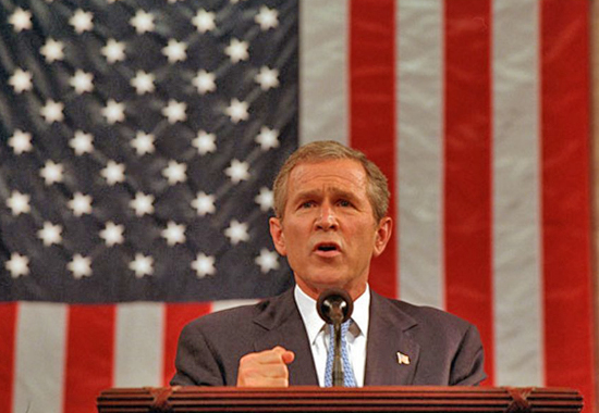 GEORGE W. BUSH SPEECH AFTER THE SEPTEMBER 11 ATTACKS
