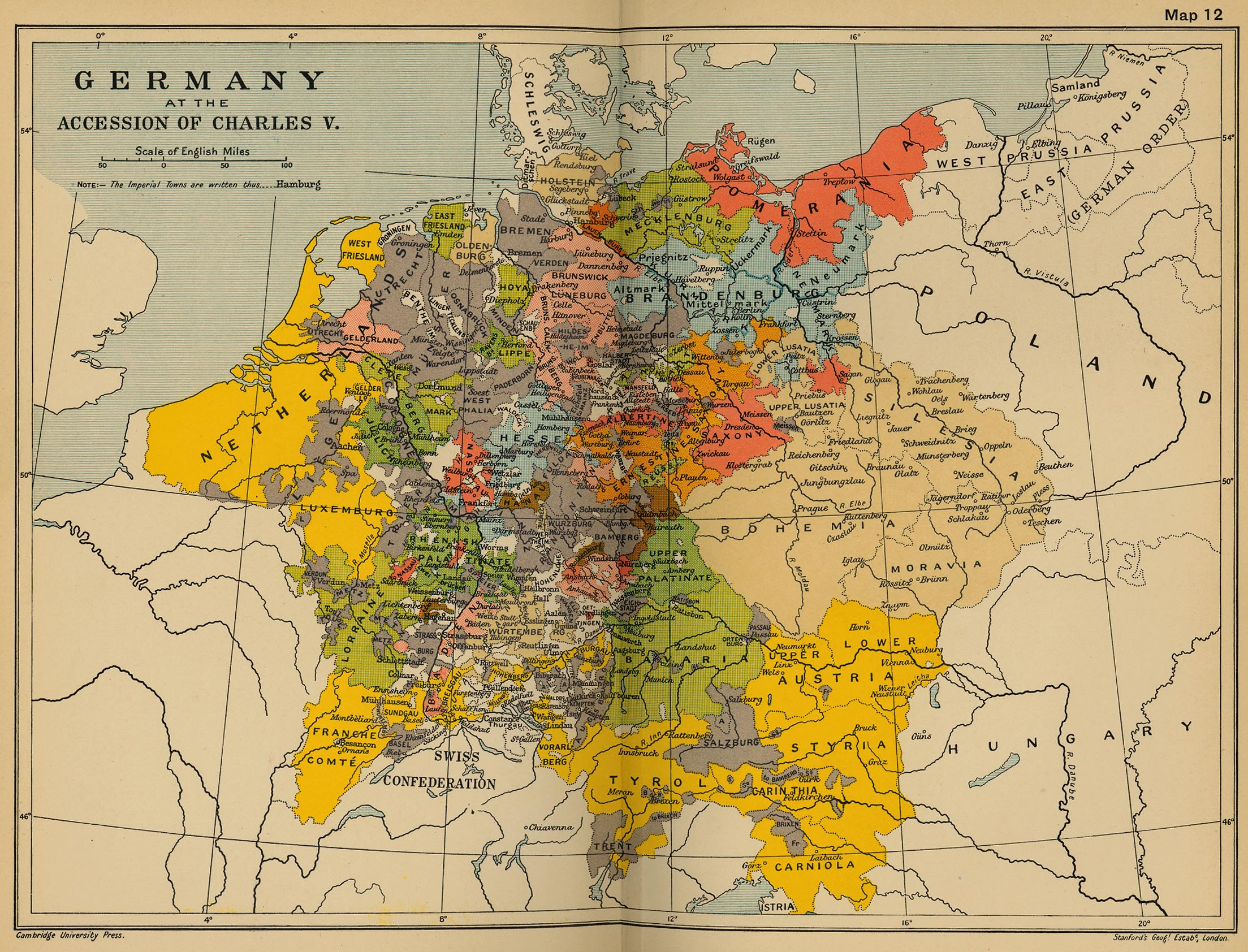 Map of Germany 1519 – Map Germnay