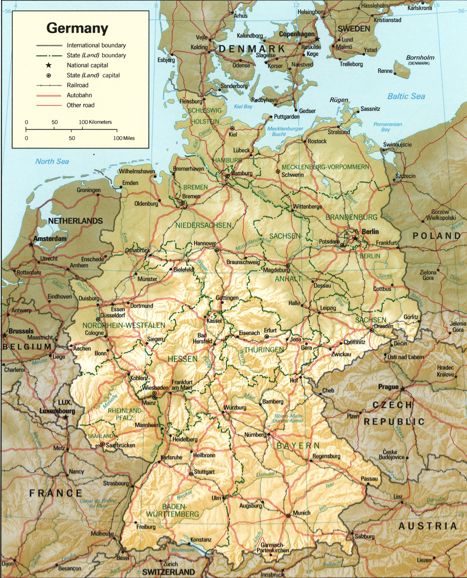 Map of Germany 1994 – A Map of Germany