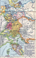 Map of Germany and Italy 1806