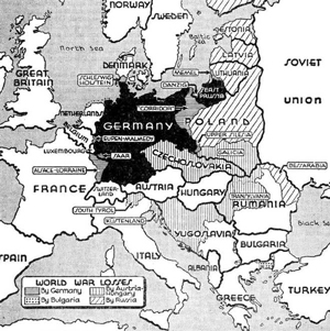 Germany before and after the Treaty of Versailles, 1919