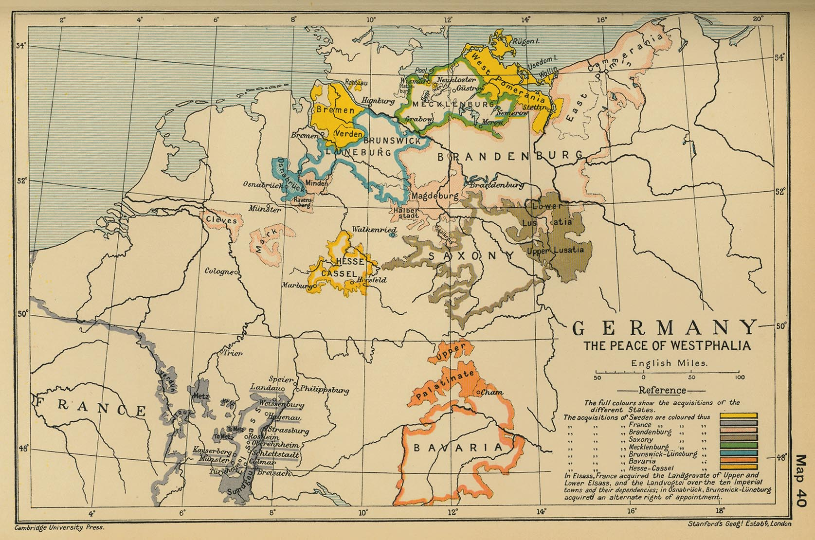 Of Germany The Peace Of Westphalia - Map germany thirty years war