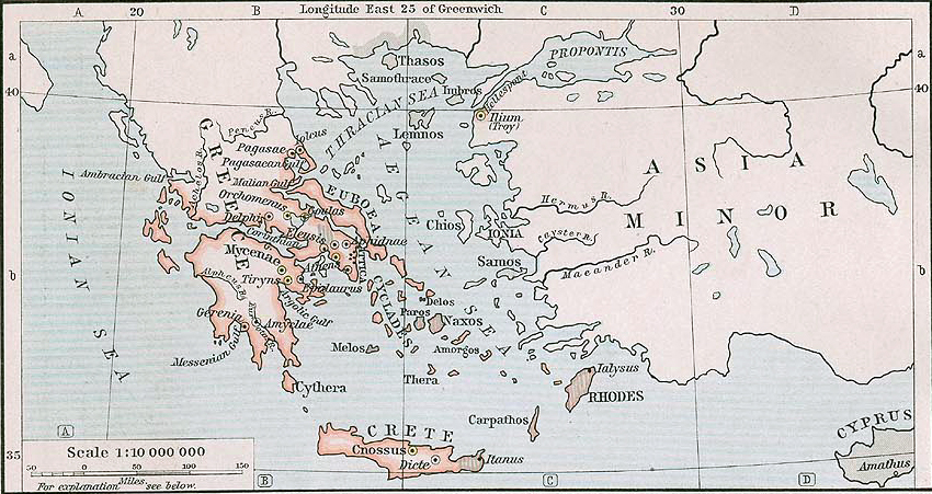 Map of mycenaean greece about 1450 bc map of mycenaean greece about 1450 bc gumiabroncs Choice Image