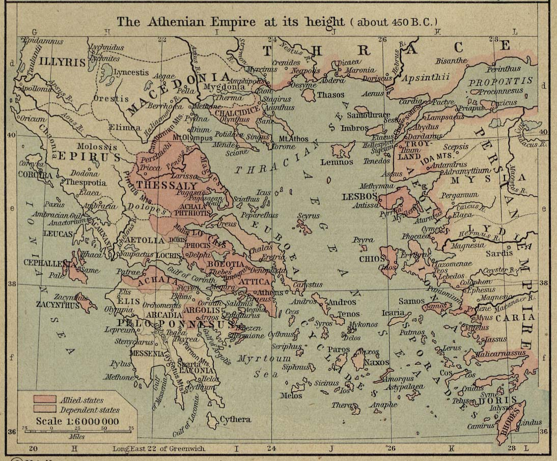 of the Athenian Empire 450 BC